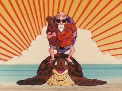 ウミガメに乗る亀仙人