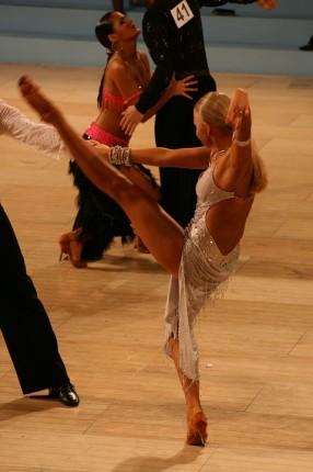 競技ダンスにおける練習風景